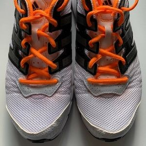 Adidas Run Smart Men 7 (women 9) White/neon orange